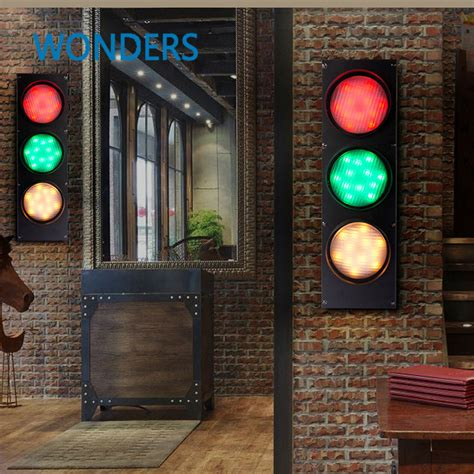 traffic lights tartlet my cafe creative 3 color stage light loft retro cafe iron wall