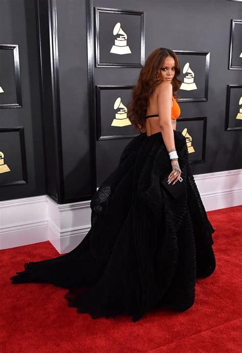 Dress Rihanna rihanna s dress at 2017 grammys popsugar fashion photo 3