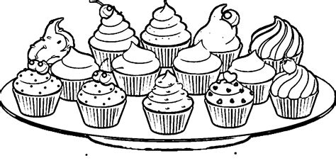 Cupcakes Coloring Page Coloring Home Cupcake Coloring Pages