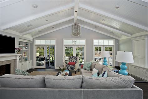 vaulted ceiling living room lighting for vaulted ceilings family room contemporary