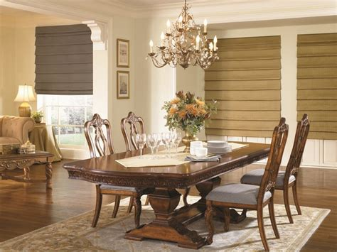 Bali Custom Tailored Roman Shades Traditional Dining Dining Room Blinds