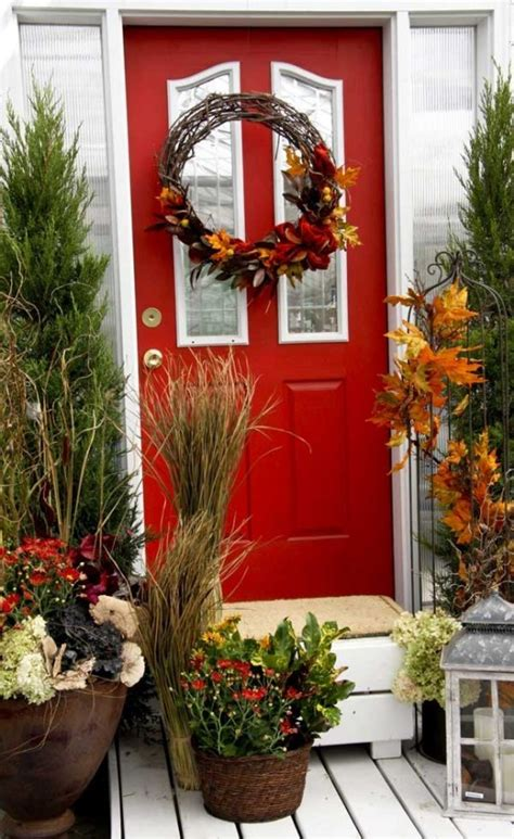 september decorating ideas 67 cute and inviting fall front door d 233 cor ideas digsdigs