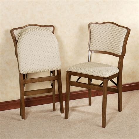 folding bench chairs dover upholstered folding chair pair