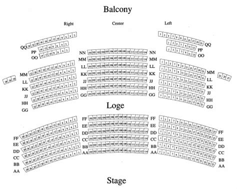state theatre seating chart seating charts state theatre