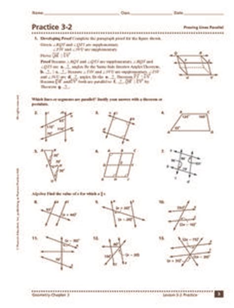 resistors in parallel worksheet 2 answers practice 3 2 proving lines parallel 10th 12th grade worksheet lesson planet