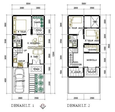 denah rumah minimalis  meter  lantai creativ   house design house plans