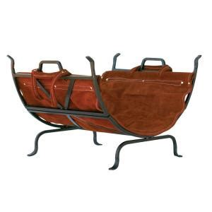 firewood home depot uniflame decorative firewood rack with removable leather