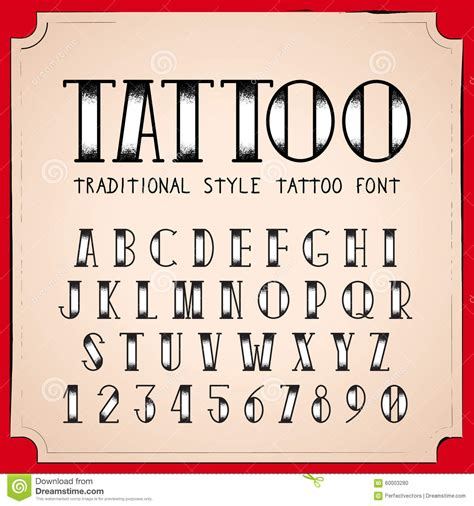 tattoo fonts old school traditional font font