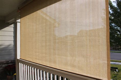 Rolling Shades For Patio by Exterior Solar Screen Shades Or Porch Shades Modern