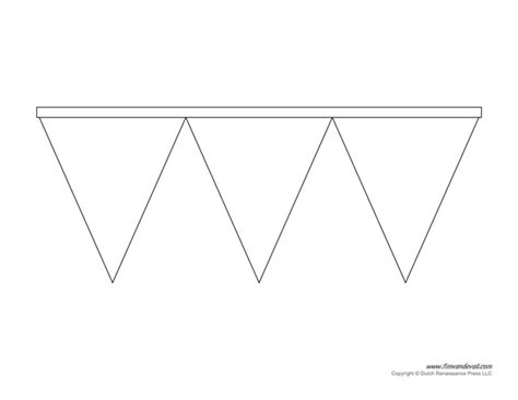 Printable Pennant Banner Template Triangle Banner Templates Banner Template For Pages