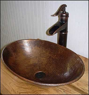 rustic bathroom vanity with copper vessel sink ms1373 25