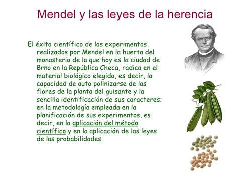 libro las leyes de la genetica mendel y sus leyes