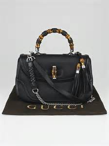 New Gucci Catur Kulit Leather Black gucci black pebbled leather new bamboo large top handle bag yoogi s closet