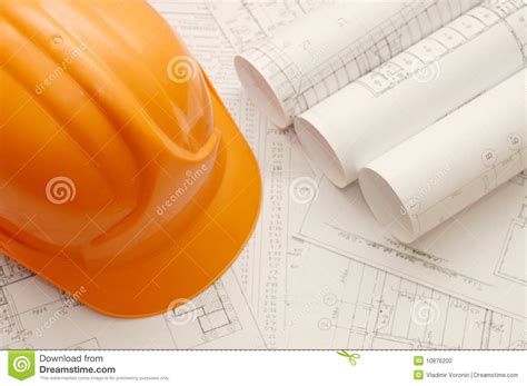 helmet house orange helmet on the house project stock photo image 10876200
