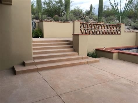 colored concrete patio colored concrete patio and pool coping optimum concrete llc