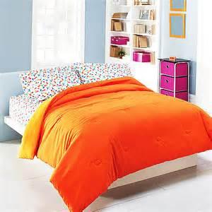 orange bedding mainstays microfiber reversible comforter bedding