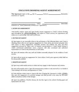 contract templates 11 booking contract templates free word pdf