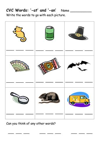 Cvc Words Worksheets by Cvc Word Worksheets By Ehazelden Teaching Resources Tes