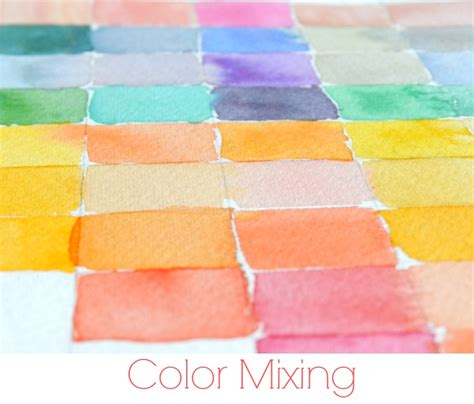 grow creative how to watercolor color mixing
