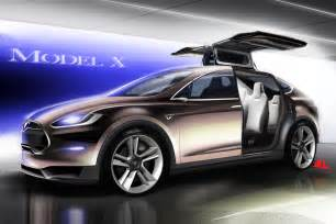 Tesla Next Electric Car Tesla Model X Unveiled Electric Luxury Crossover With Wings