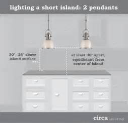 Pendant Lights For Kitchen Island Spacing by Lighting Tips Size And Placement Guide