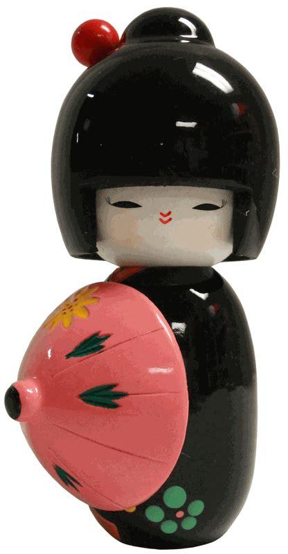 black doll umbrella japanese geisha doll black with umbrella