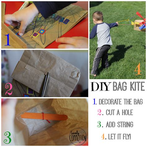 Paper Bag Kite Craft - 5 fingerplays laptime songs
