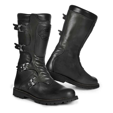 black motorbike boots stylmartin motorcycle boots quot continental quot black 24helmets de