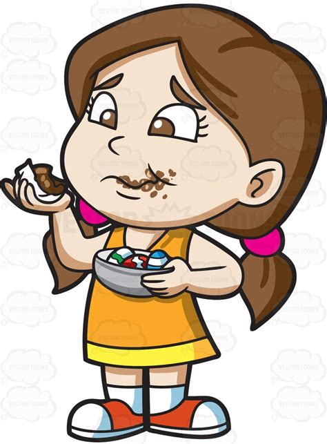 if a eats chocolate chocolate clipart 2