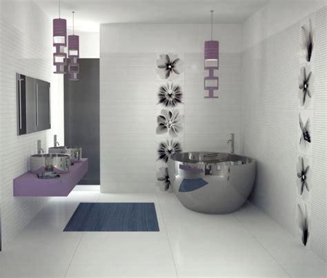 purple bathroom ideas bathroom silver purple home decor pinterest