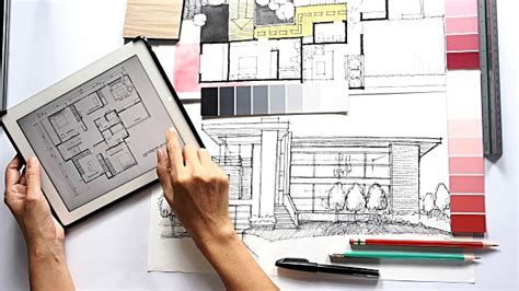 interior design works architect interior designer working stock footage