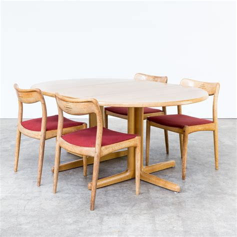 60s dining table 60s oak solid dining table extandable for niels bach as barbmama