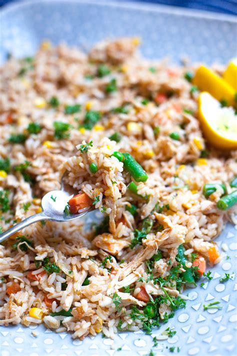 easy dinner ideas spicy rice  chicken strips