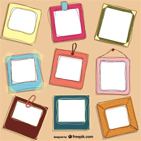 download layout frame cute doodle frames design vector free download