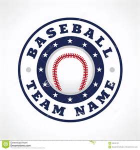 Team Logo Templates by Baseball Team Logo Stock Vector Image 56940762