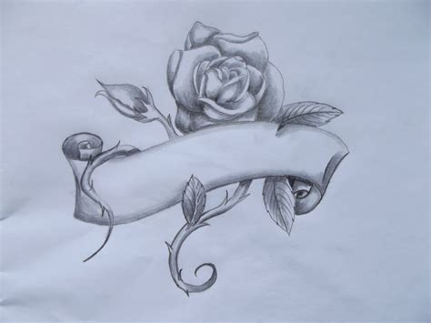 rose art tattoo and banner designs theveliger