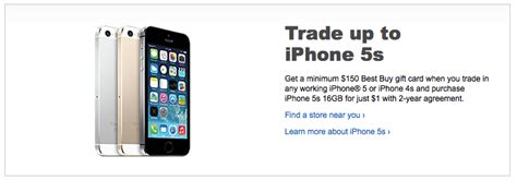 best buy offering 150 gift card to iphone users trading up to 5s