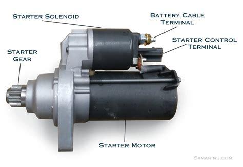 starter motor starting system   works problems testing