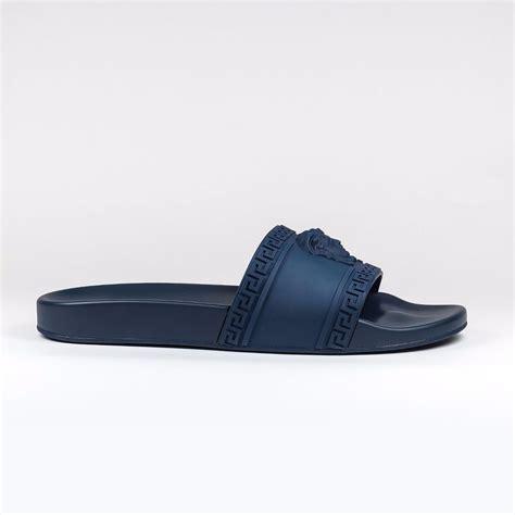 slides shoes 100 authentic mens navy medusa versace slides sandals