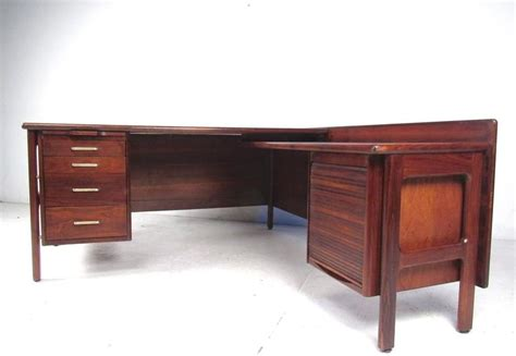 l shaped executive desks impressive mid century modern l shaped executive desk at
