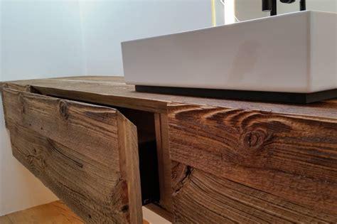 waschtisch aus altholz hochwertiger schreiner innenausbau schreinerei rummel