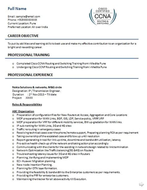 should i use a resume template 5 ccna resume sles that you should use