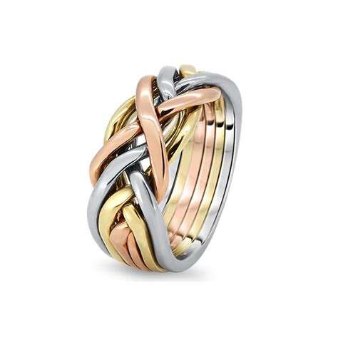 mens gold 6cw m puzzle rings creations