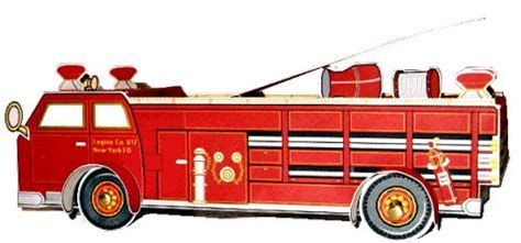printable   paper fire truck great  kids