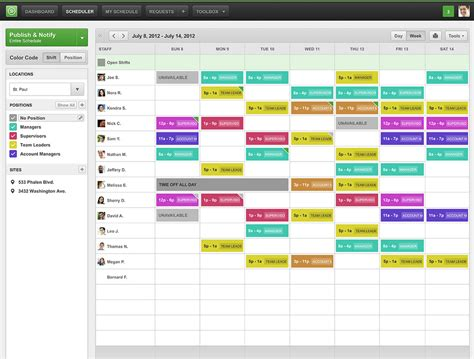Team Work Schedule Template when i work scheduling reviews features pricing