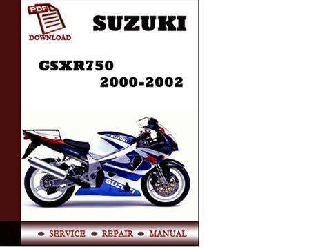 Suzuki Gsxr750 2000 2001 2002 Workshop Service Repair