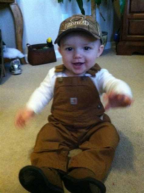 baby country how is he def getting these carhartt overalls for