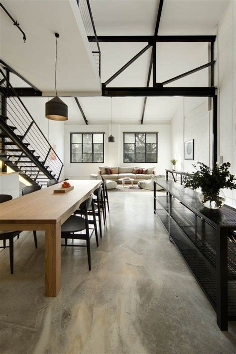 home interiors warehouse interior inspiration concrete floors bellemocha