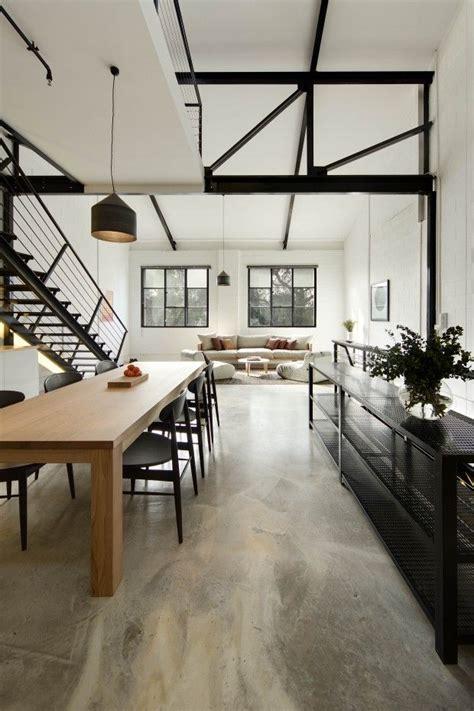 Interior Inspiration // Concrete floors   BELLEMOCHA.com