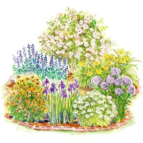 Easy Care Romance Garden Plan How To Plan A Flower Garden
